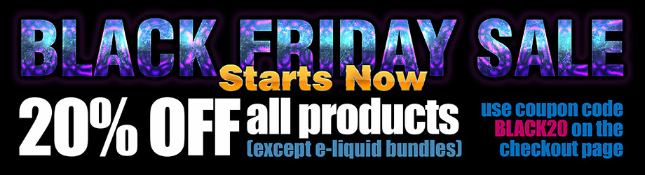Black friday e-liquids and vape gear sale UK