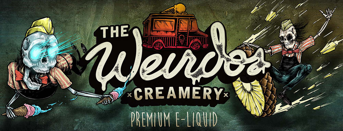 weirdos creamery eliquids UK