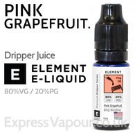 Pink Grapefruit - ELEMENT 80% VG Dripper e-Liquid - 10ml