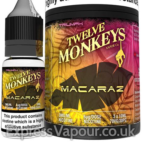 MACARAZ - Twelve Monkeys e-liquid - 70% VG - 30ml