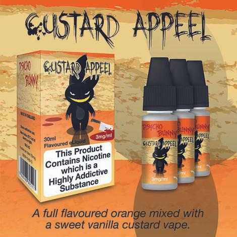 Custard Appeel Psycho Bunny by ECO VAPE - 80% VG - 30ml