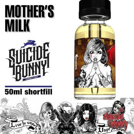 Mother's Milk - Suicide Bunny e-liquids - 70% VG - 50ml