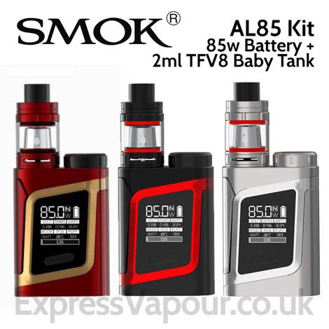 SMOK AL85 85 watt Vaping Kit with 2ml TFV8 Baby Tank