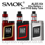 SMOK AL85 85 watt Vaping Kit with 2ml TFV8 Baby Tank