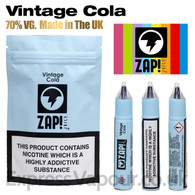 Vintage Cola by ZAP Juice e-liquid 70% VG 30ml