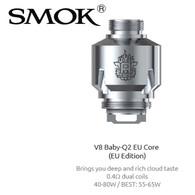 5 pack - SMOK V8 Baby-Q2 EU 0.4ohm dual core atomisers