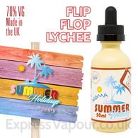 Flip Flip Lychee - Summer Holidays e-liquids by Dinner Lady - 70% VG - 50ml
