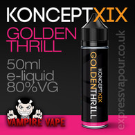 Golden Thrill - Koncept XIX e-liquid - 80% VG - 50ml