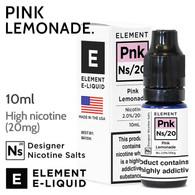 Pink Lemonade - ELEMENT NicSalt high nicotine e-liquid - 10ml
