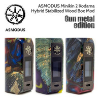 ASMODUS Gun Metal Edition Minikin 2 Kodama 180w Hybrid Stabilized Wood Box Mod