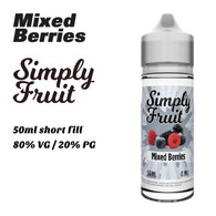 Mixed Berries - Simply Fruit e-liquids - 50ml