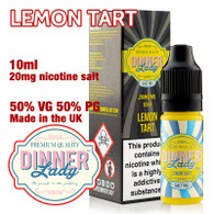 Lemon Tart – Dinner Lady Salt Nic e-liquids – 50% VG – 10ml - 20mg nicotine