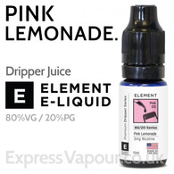 Pink Lemonade - ELEMENT 80% VG Dripper e-Liquid - 10ml