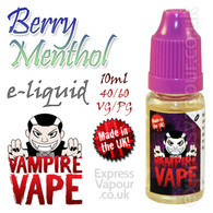 Berry Menthol - Vampire Vape 40% VG e-Liquid - 10ml