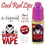 Cool Red Lips - Vampire Vape 40% VG e-Liquid - 10ml
