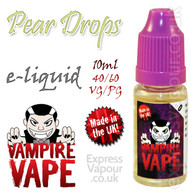 Pear Drops - Vampire Vape 40% VG e-Liquid - 10ml