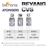 5 Pack - Beyang CVS Atomisers - Bottom Turbine Duel Coil BTDC and BTC