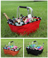 Folding Picnic Basket - Black