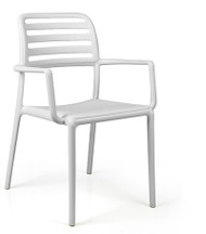Nardi Costa Bistrot (with arms) Deck Chair – White