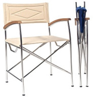 Il Capitano Directors Chair with Teak Arms – Sand
