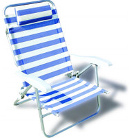Beach Chair - stripe - 8 position