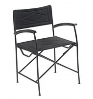 Italian Directors Deck Chair in Carbon Black