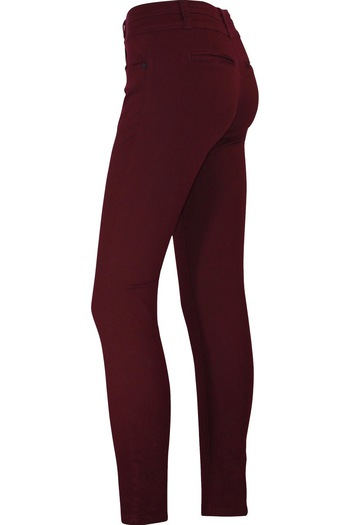 Burgundy Straight Leg Stretch Pants