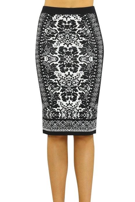 Woven Bodycon Skirt