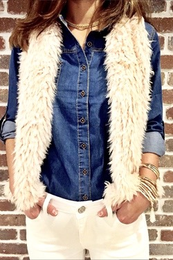 Blush Fur Jacket