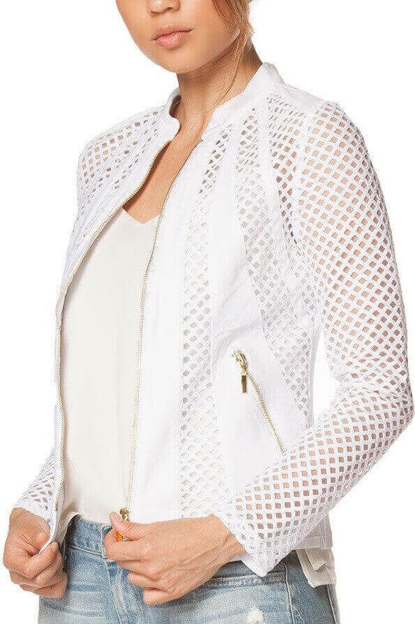 White Tailored Accent Jacket