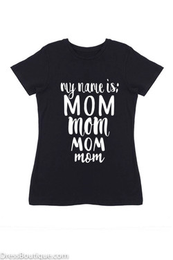 Mom Black Graphic T-Shirt