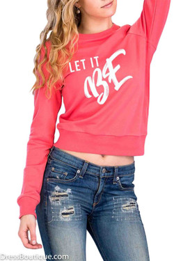 "Coral ""Let it Be"" Sweatshirt"