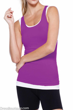 Perfect Fit Purple Racerback Work Out Top