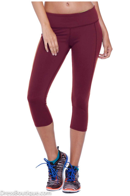 Maroon Athletic Capris