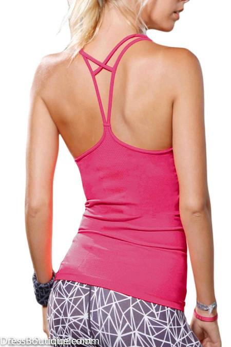 Diamond Strap Fuchsia Workout Top