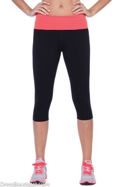 Pink Trim Flex Fit Yoga Pants
