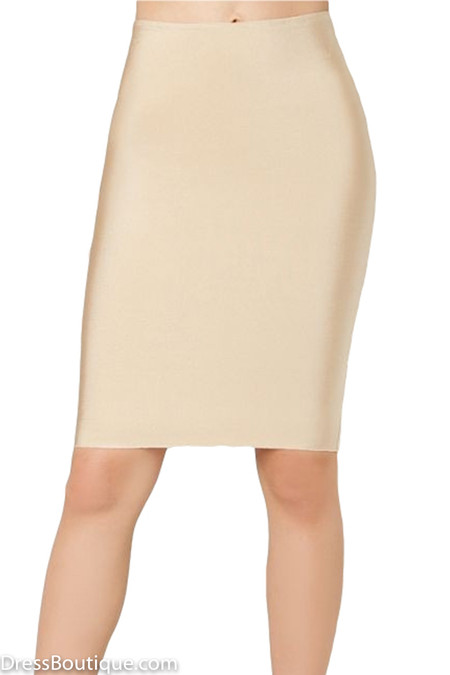 Luxe Beige Bodycon Bandage Skirt