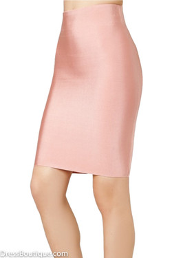 Luxe Blush Bodycon Bandage Skirt