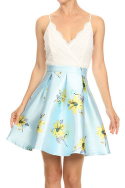 Baby Blue Fit & Flare Dress