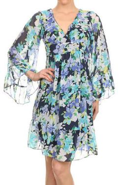 Long Sleeve Bohemian Dress