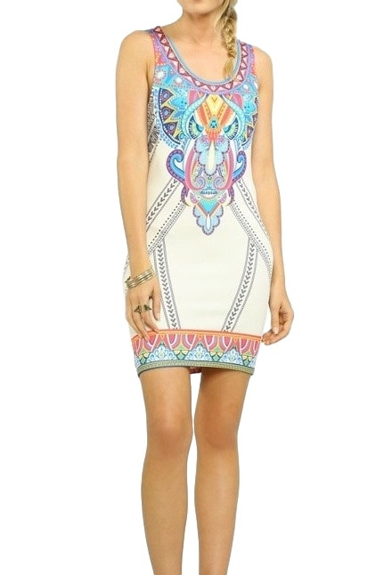 Ivory Bodycon Summer Dress