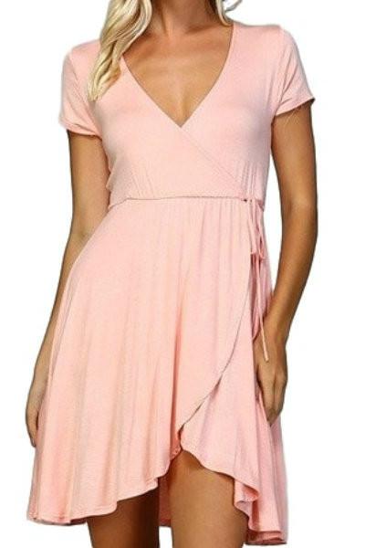 Blush Wrap Dress