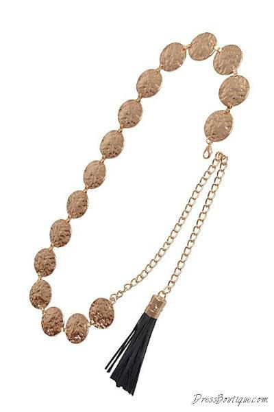 Bejeweled Chain Waist Belt