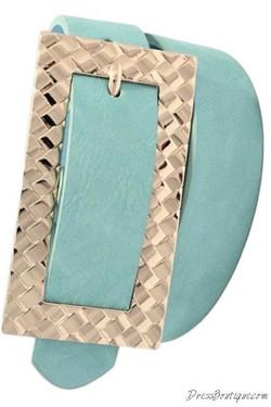 Mint Wide Buckle Belt