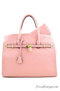 Stitched Oversized Pink Tote