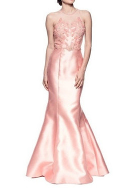 Pink Satin Mermaid Gown