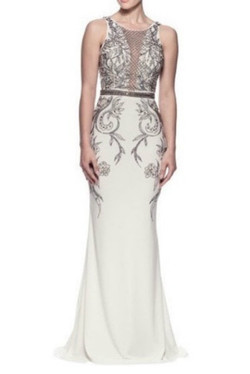White Mermaid Evening Dress