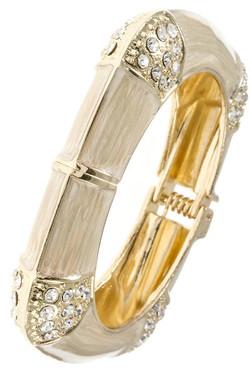Ivory Square Bangle Bracelet