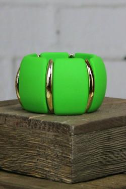 Vibrant Green Acrylic Link Bracelet