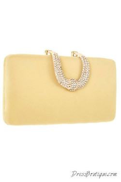 Gold Satin Clutch